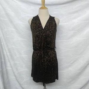 Asos Black Gold Mini Dress